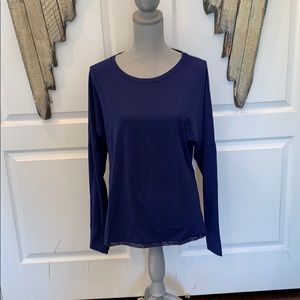 Lululemon blue long sleeve top size 10